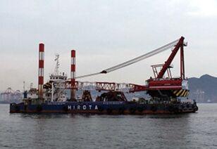 SUMITOMO SKK 500TON FLOATING CRANE(15M3 BUCKET CAPACITY) Hafenkran